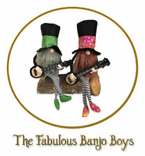 "Cloth Folk Art Doll (Paper) Pattern ""The Fabulous Banjo Boys"" By Norma Inkster"