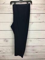 J. JILL Linen Stretch Crop Pants Navy Blue Side Zip Women's Plus Size 3X NWT