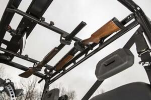 UTV Side by Side Overhead Gun Rack Holder Double Carrier Hunting Shotgun Rifle