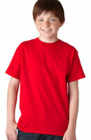 Hanes Youth Double Needle Bottom 100% Cotton Short Sleeve Beefy T-Shirt. 5380