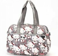 Hello Kitty LeSportsac 45th Anniv 2Way Travel Bag HARPER BAG Gray From Japan EMS