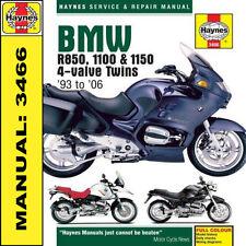 BMW R850 R1100 R1150 1993-2006 haynes manuale 3466 NUOVO