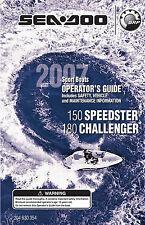 Sea-Doo 150 Speedster, 200 Challenger, 2007 Owners Manual Paperback