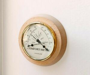 Comfort Meter, by Kikkerland: temperature and humidity gauge nautical look