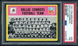 1967 Philadelphia Football #49 Dallas Cowboys Team Card PSA 7