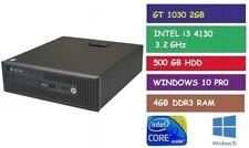 i3 4130 3.2GHz DESKTOP GAMING PC HP ELITEDESK 800 G1 GT 1030 2GB 500GB HDD 4GB