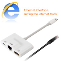 Lightning to RJ45 Ethernet Network Lan Wired Adapter for iPhone/iPad 3 in 1