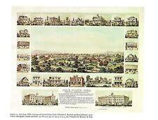 "1976 Vintage CITY ""SAN JOSE, COUNTY of SANTA CLARA (1856)"" Color Art Lithograph"
