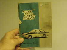 Fiat 124 Sport Coupe'- Owner service manual vintage car classic