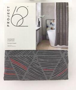"Project 62 Target Shower Curtain Dark Gray Hexagon 72 x 72"" Standard 100% Cotton"