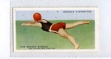 (Ja1887-100) Ogdens,How To Swim,Breast Stroke Leg Action 3rd Position,1935 #4