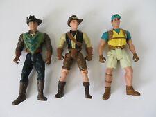 Jurassic Park Rangers 1997 Action Figures Lot of 3  #6930