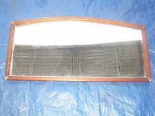 Large Vintage Oak Framed Bevelled Edged Over Mantle Rectangular Mirror
