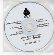 (DD635) Dufflecoat Records, May 2012 sampler, 5 tracks various artists - DJ CD