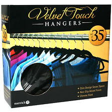 Hangers Velvet Touch 35ct Hangers Clothes Hangers Housekeeping Organization