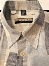 Haupt of Germany Button Front S/S Block Casual Shirt Orig $148 Sz L 42L 16.5 EUC