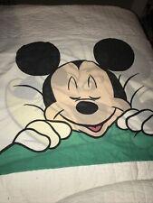 Vintage Disney Sleepy Mickey Mouse Single Standard Pillow Case Character Bedding