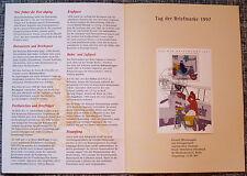 Bund Jahresgabe des deutschen Sammler - Service 1997 Block 41 Tag der Briefmarke