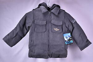 iXtreme Boys Wool blend Coat w/ quilted vest lining - CHARCOAL