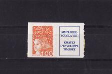 timbre France vignette +  Marianne  1f orange autocollant   3101a **