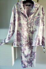 RALPH LAUREN Pajama Set L/S Tie Embroidered Pocket Paisley LN92018 $88 NWT
