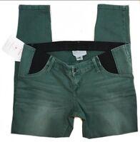 NWOT Ingrid & Isabel Green Elastic Waist Maternity Pants