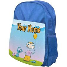PERSONALISED CHILDRENS BACKPACK / SCHOOL BAG BOY WITH BALLOON