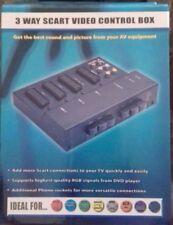 SCART Switcher Selettore Splitter Scatola Di Connessione 3 VIE