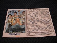 Vintage NBA 1991-92 Utah Jazz Stockton Malone West One Bank Game Schedule Magnet