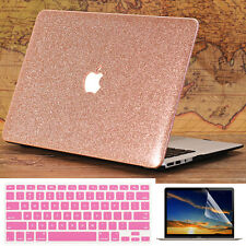 """3in1 Rose Gold Glitter Bling Shiny Case for MacBook Air Pro 11""""13"""" 15"""" Touch Bar"""
