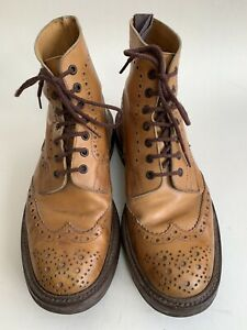 Trickers Stow Acorn Brogue Boots Size 7.5 UK