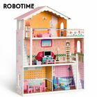 Robotime Wooden Pretend Play Dollhouse Toys for Kids Girls Gifts Doll House US