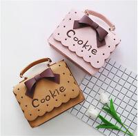 Lolita Cute Cookie Bowknot Handbag Satchel Women Casual Messenger Shoulder Bag