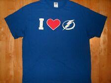 New NHL Mens Tampa Bay Lightning Bolts Hockey XL Athletic Shirt I HEART BOLTS