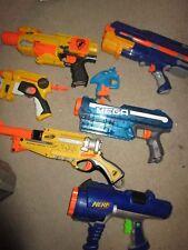 (7) NERF SOFT DART GUN LOT BARRICADE MEGA DART TAG BARREL BREAK IX-2 USED