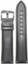 20mm RIOS1931 for Panatime Silver Kevlar Style Watch Band w Black Stitching 20/1