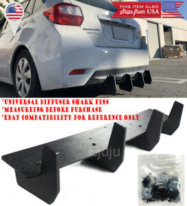 "32"" Bumper Diffuser Valence Wind Blade Extension Splitter 4 Shark Fins For Ford"