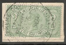 Queen Victoria - 2s Green - Judicature Fees - Used On Paper ,