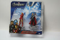 "Marvel Avengers Iron Man Thor 2.5"" Action Figures 2012 Damaged Package New"