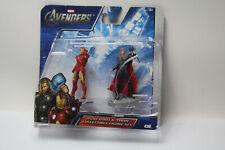 "Marvel Avengers Iron Man Thor 2.5"" Action Figures 2012 Damaged Package New"