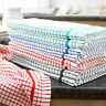 Terry 100% Cotton Tea Towels Set Dish Cloths Kitchen Cleaning Drying Pack Of 10