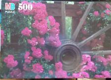 MB Milton Bradley Puzzle  500 Pc  Croxley Climbing Roses Kids 10+   New  1996