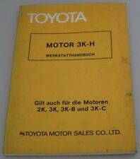 Werkstatthandbuch Toyota 1000 Corolla Lite Ace Motor 3K-H 2K 3K 3K-B 3K-C 1975