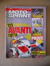 MOTOSPRINT n°8 1990  TEST  AFRICA TWIN 650 YAMAHA YZ 490  [MS9]
