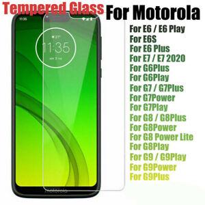 Tempered Glass For Motorola Moto G 5G G9 Power E7 G8 G20 G60 10 Screen Protector