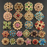 Lot 24pc Mixed Vintage Style Golden Rhinestone Crystal Brooch Pin DIY Bouquet