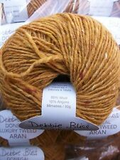 13 x 50g Debbie Bliss Luxury Tweed Aran shade 36 Gold lot 04/15