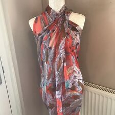 Orange feather scarf scarves beach wrap sarong lovely material present gift