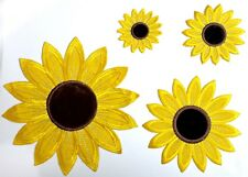 Sunflower Applique, Emblem, Patch, Iron on/ Sew on for Clothing & Home Decor