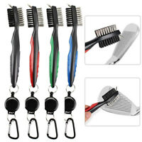 Golf Brush Club Groove Cleaner Retractable Zip-line Cleaning Kit Tool Washer  UK